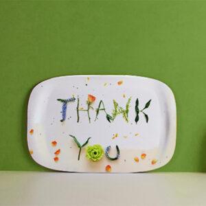 Een welgemeende dankjewel dat zeg je met ons Thank you dienblad als geschenk van One Two Tray