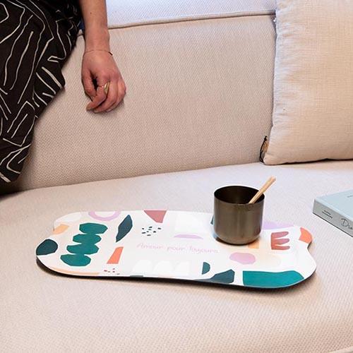 Nude dienblad kleurrijk koffiedienblad